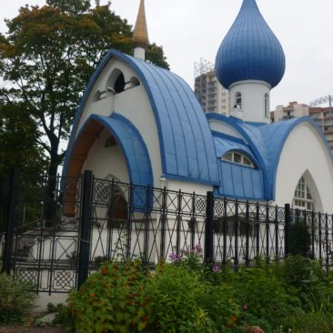 Храм святого праведного Иоанна Кронштадтского летом