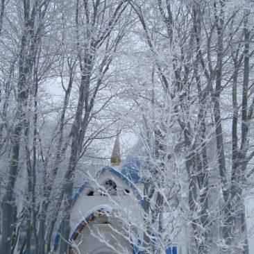 Храм святого праведного Иоанна Кронштадтского зимой