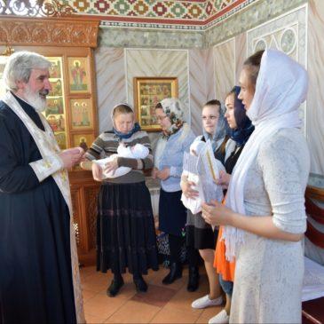 Таинство Крещения в храме святого праведного Иоанна Кронштадтского
