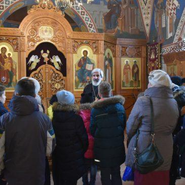 В субботу 18 ноября учащиеся Лицея № 387 посетили наш храм