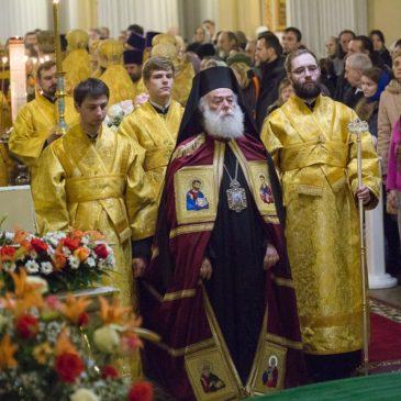 Патриарх Александрийский и всей Африки Феодор II совершил Божественную литургию в Свято-Троицкой Александро-Невской лавре