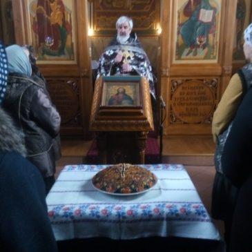 Пятница первой недели Великого поста. Молебен великомученику Феодору Тирону. Освящение колива.