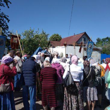 Освящение источника в поселке Скачки