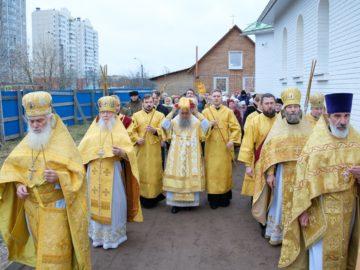 В Красносельском благочинии освятили храм святителя Иоанна Милостивого на улице Доблести